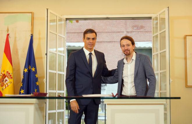 Pacto de los Presupuestos 2019 entre Pedro Sánchez y Pablo Iglesias.