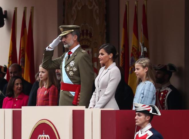 La Princesa Leonor, Felipe VI, la Reina Letizia y la Infanta Sofía,...
